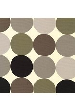 Robert Kaufman Canvas, Sevenberry Dots in Warm Gray, Fabric Half-Yards