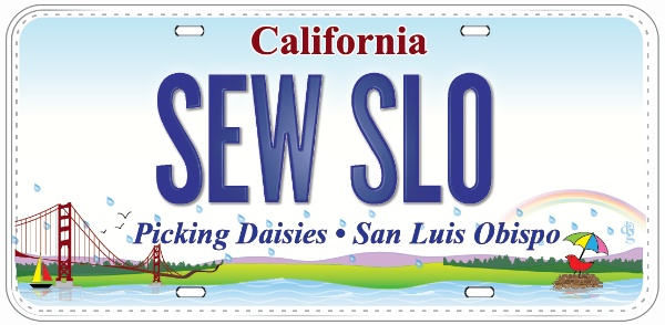 Row by Row License Plate - SEW SLO 2015 Row by Row