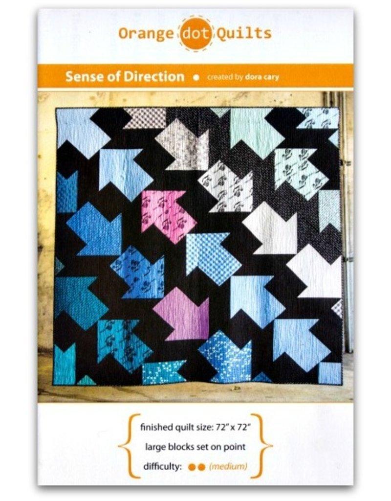 Orange Dot Quilts Orange Dot Quilt's Sense of Direction Pattern