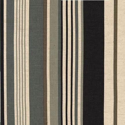 Robert Kaufman Canvas, Flax/Linen Blend, Sevenberry Stripes, Fabric Half-Yards