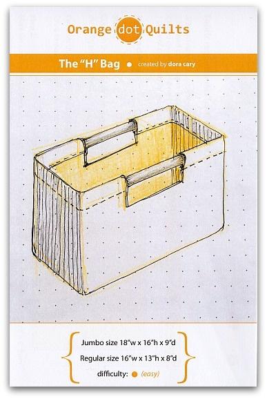 Orange Dot Quilts Orange Dot Quilt's The H-Bag Pattern