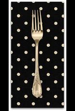 PD's Linen Blend Collection Linen Mochi Dot in Black, Dinner Napkin