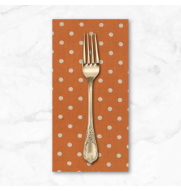 PD's Linen Blend Collection Linen Mochi Dot in Longhorn, Dinner Napkin