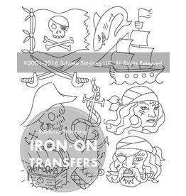 Sublime Stitching Embroidery Iron-On Transfers, Pirates Ahoy, from Sublime Stitching