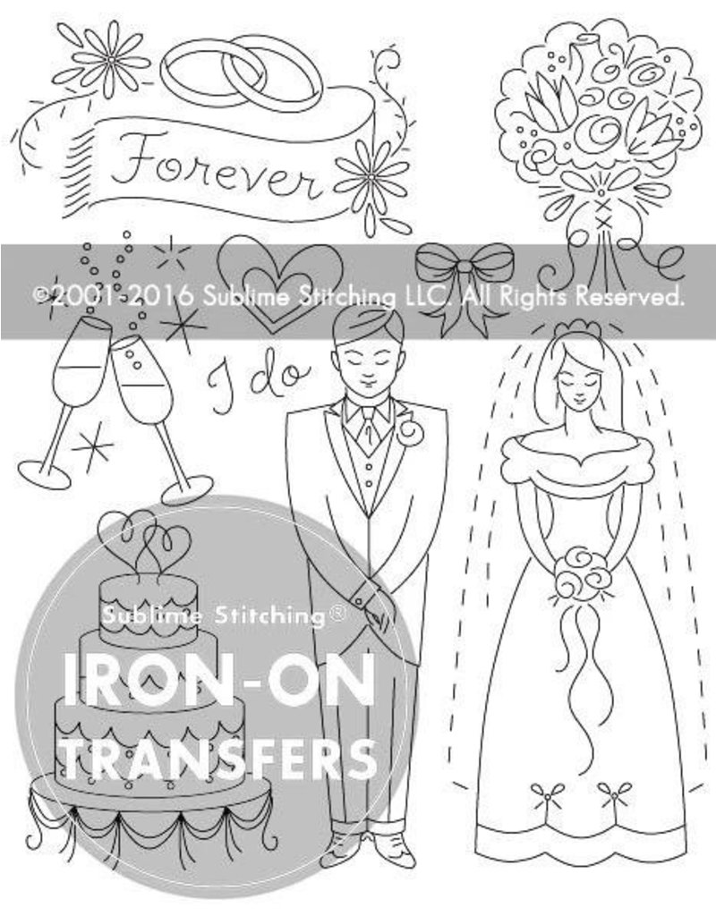 Sublime Stitching Embroidery Iron-On Transfers, Wedding Wishes, from Sublime Stitching