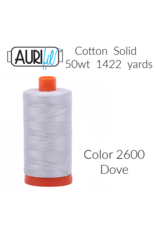 Aurifil Thread, 50wt, 100% Cotton Mako, Large Spool 1422 yds.<br /> Color 2600: Dove