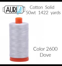 Aurifil Thread, 50wt, 100% Cotton Mako, Large Spool 1422 yds.<br /> Color 2600: Dove
