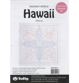 Tulip Sashiko World, Hawaii Hibiscus Sashiko Kit, by Tulip