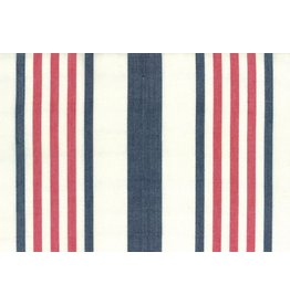 "Moda Woven Toweling, 16"", Picnic Point Tea in White with Red and Blue Stripes  992 238, Sold by the Yard"