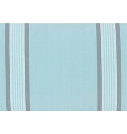 "Moda Woven Toweling, 18"", Rock Pool Toweling in Seaglass with Grey Stripes  992 254, Sold by the Yard"