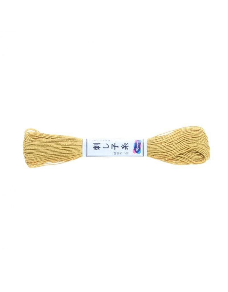 Olympus Sashiko Thread, Gold, 22 yd. skein, 100% Cotton
