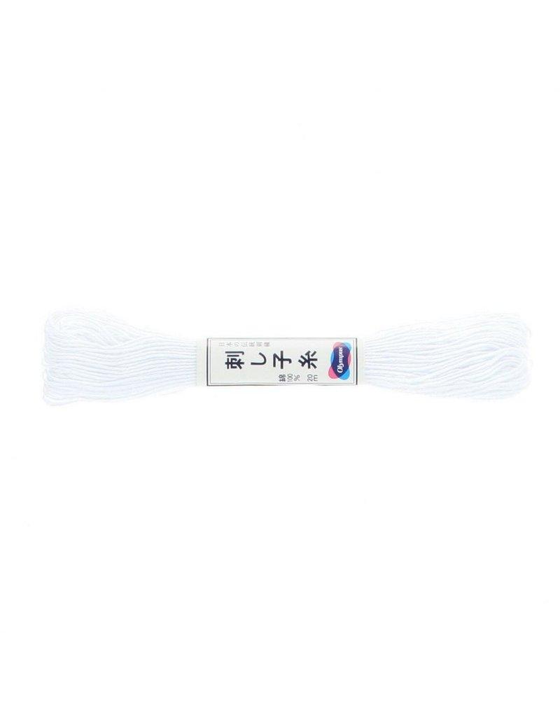 Olympus Sashiko Thread, White, 22 yd. skein, 100% Cotton