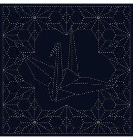 QH Textiles Sashiko Cloth, Ori-Zuru in Navy