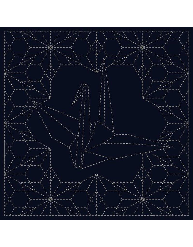 Olympus Sashiko Cloth, Ori-Zuru in Navy