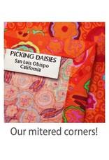 PD's Michael Miller Collection Eat, Sleep, Garden, Bowers of Flowers Border Print in Black, Dinner Napkin
