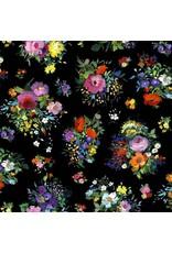 Michael Miller Eat, Sleep, Garden, Fresh Cut in Black, Fabric Half-Yards DCX9063