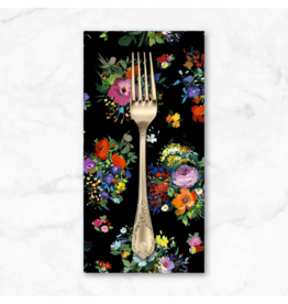 PD's Michael Miller Collection Eat, Sleep, Garden, Fresh Cut in Black, Dinner Napkin