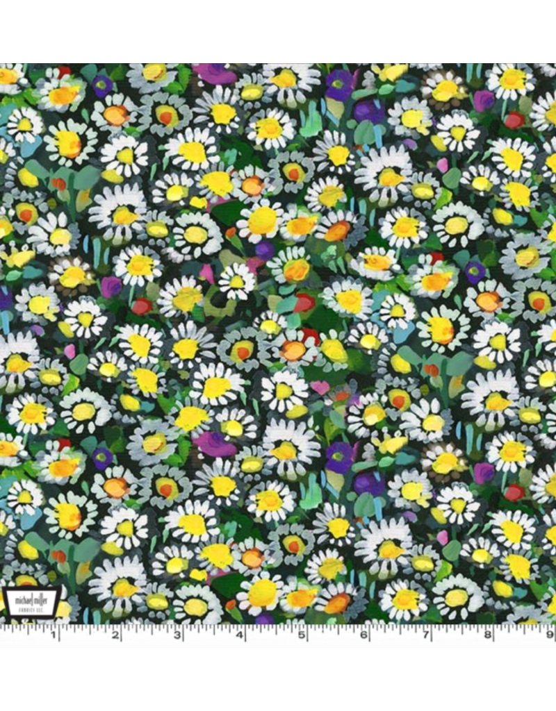 PD's Michael Miller Collection Eat, Sleep, Garden, Lawn Daisies in Yellow, Dinner Napkin