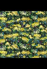 Michael Miller Eat, Sleep, Garden, Yellow Blossoms in Yellow, Fabric Half-Yards DCX9060