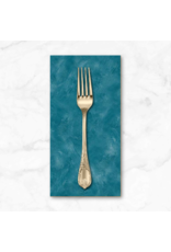 PD's Michael Miller Collection Eat, Sleep, Garden, Hand Sprayed in Teal, Dinner Napkin