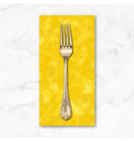 PD's Michael Miller Collection Eat, Sleep, Garden, Hand Sprayed in Yellow, Dinner Napkin