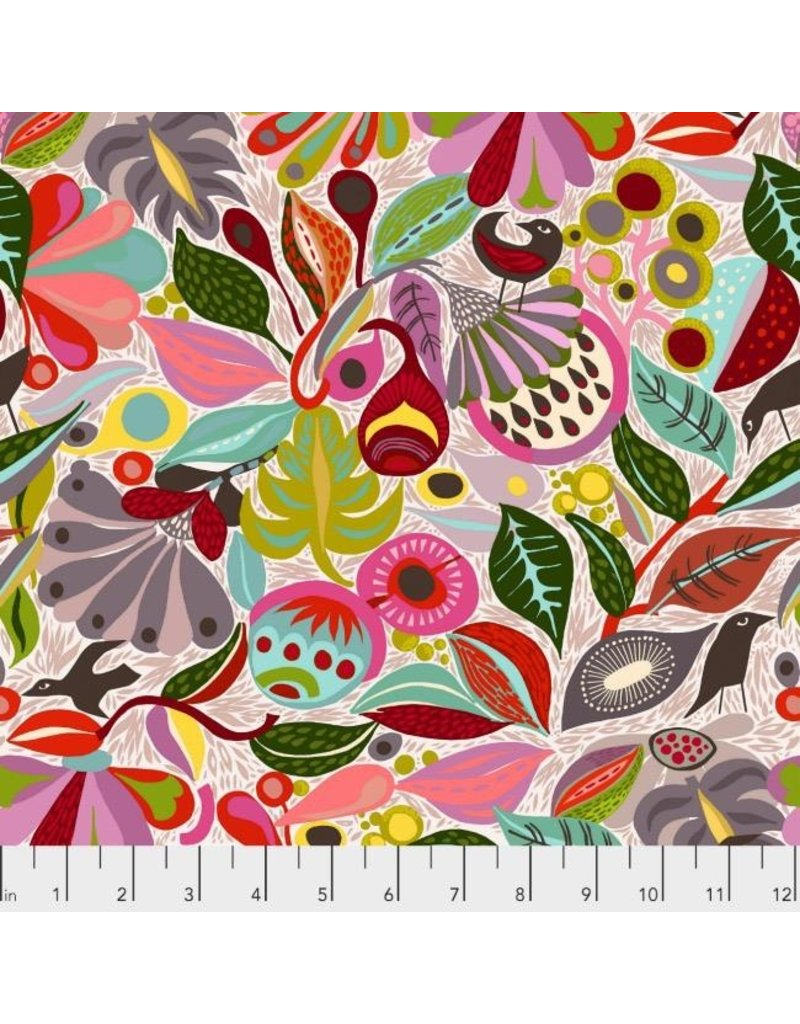 PD's Shannon Newlin Collection Vibrant Blooms, In the Woods in Neutral, Dinner Napkin