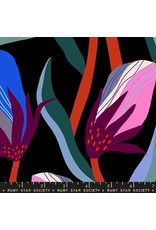 Ruby Star Society for Moda Rayon, Ruby Star Society, Airflow Bloom in Black, Fabric Half-Yards