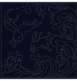 QH Textiles Sashiko Cloth, Ari-Nami in Navy