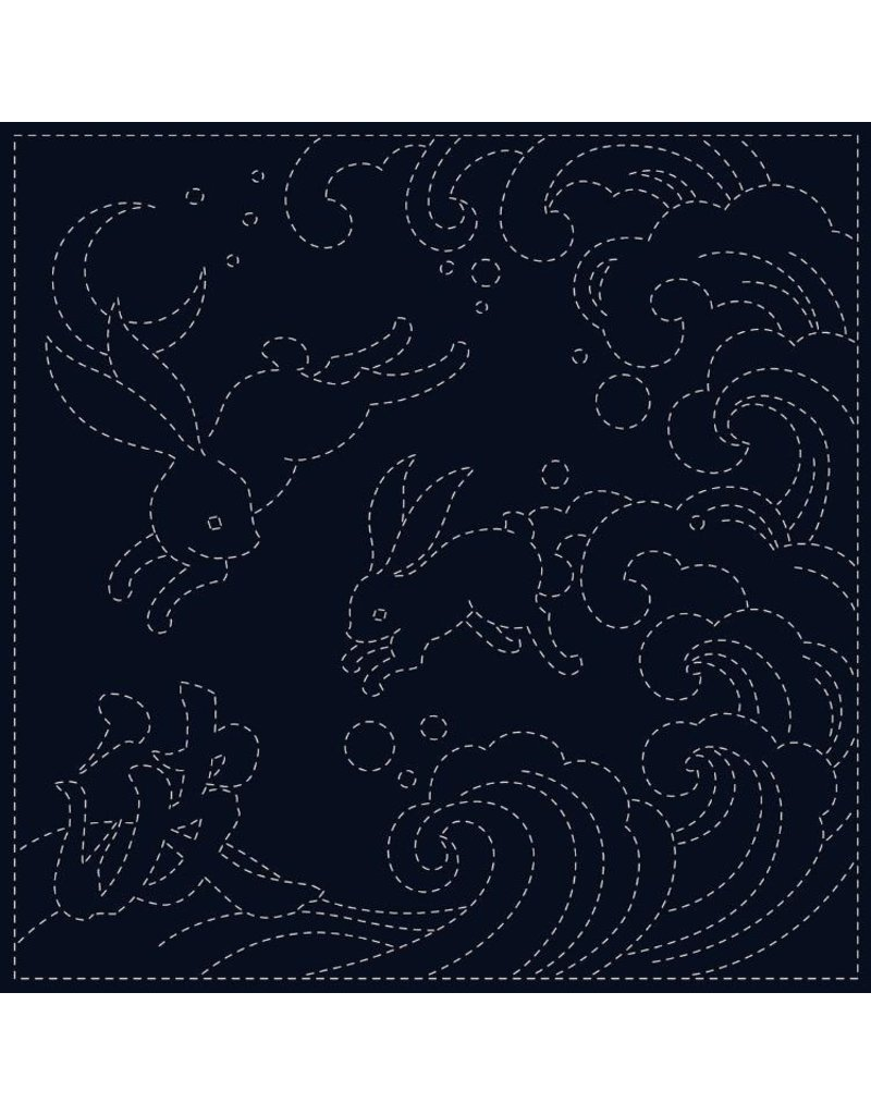 Olympus Sashiko Cloth, Ari-Nami in Navy