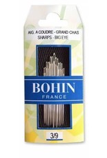 Big Eye Sharps Needles, Assorted Sizes 3/9 - 15 ct., Bohin