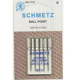 Schmetz Schmetz 1714 Ball Point/Jersey Needles - Size 80/12,  5 count