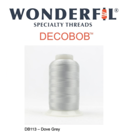 WonderFil Wonderfil DecoBob Thread, 80wt poly, 2000m DB113-Grey