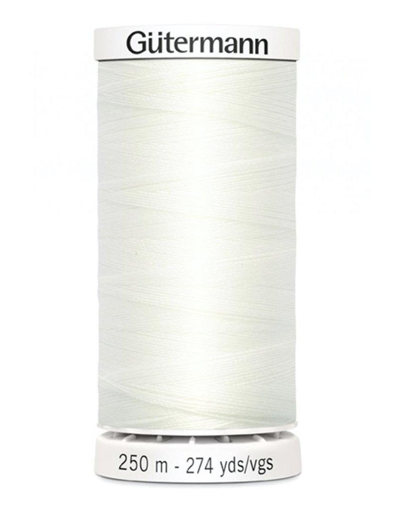 Gutermann Gutermann Thread, 250M-021 Warm White, Sew-All Polyester All Purpose Thread, 250m/273yds
