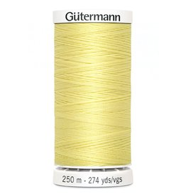Gutermann Gutermann Thread, 250M-805 Lemon Chiffon, Sew-All Polyester All Purpose Thread, 250m/273yds