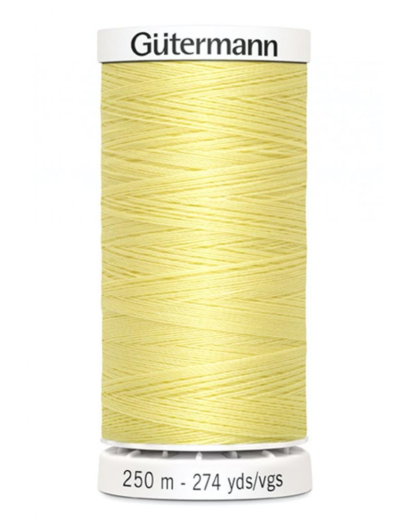 Gutermann Gutermann Thread, 250M-805 Lemon Chiffon, Sew-All Polyester All Purpose Thread, 250m/273yds