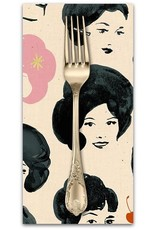 PD's Ruby Star Society Collection Ruby Star Society Darlings, Dotties Friends in Black with Metallic, Dinner Napkin