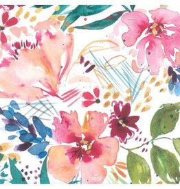 Moda Brightly Blooming, Flower Party in White, Fabric Half-Yards 8430 11D