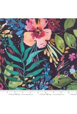 Moda Brightly Blooming, Flower Party in Navy, Fabric Half-Yards 8430 12D