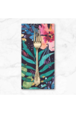 PD's Moda Collection Brightly Blooming, Flower Party in Navy, Dinner Napkin