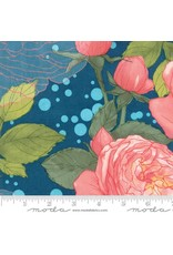 Moda Abby Rose, Cabbage Rose in Night, Fabric Half-Yards 48670 16