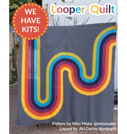 "Looper Quilt Kit - Fabric and layout notes to recreate the 80""x80"" quilt top created by Ari Cortes @polygirl"