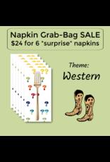 Picking Daisies Western Themed Grab-Bag Dinner Napkin Set of 6