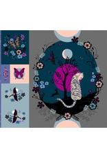 Sarah Watts Ruby Star Society, Tiger Fly Large Fabric Panel, Digitally Printed, RS2018P