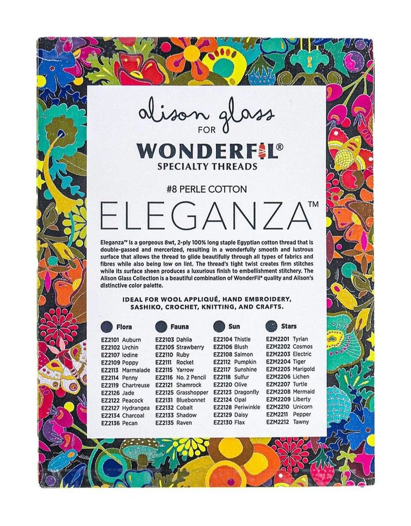 Alison Glass Alison Glass Eleganza Palette #1, Flora, Perle (Pearl) Cotton, Set of 12 Size 8 from WonderFil
