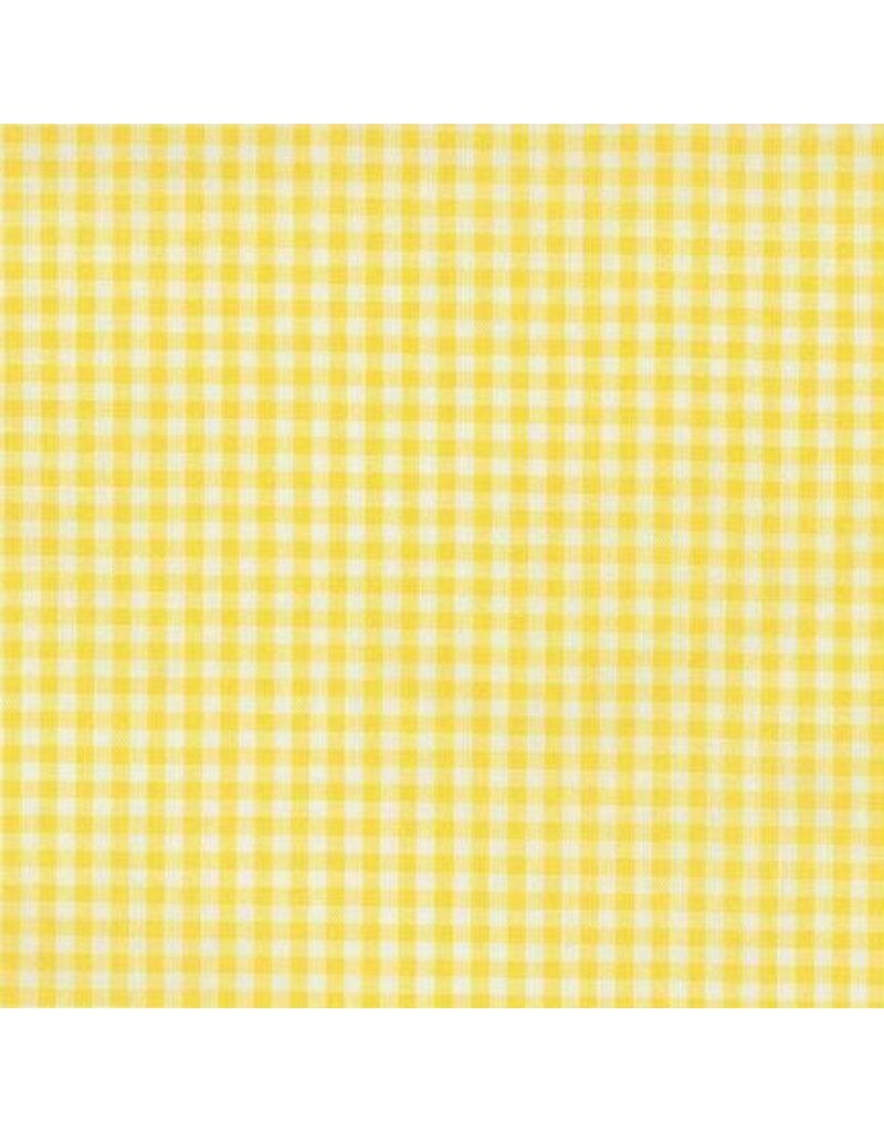 "Robert Kaufman Carolina Gingham Lightweight Yarn Dyed Woven, 1/8"" Gingham in Yellow, Fabric Half-Yards P-5689-14"