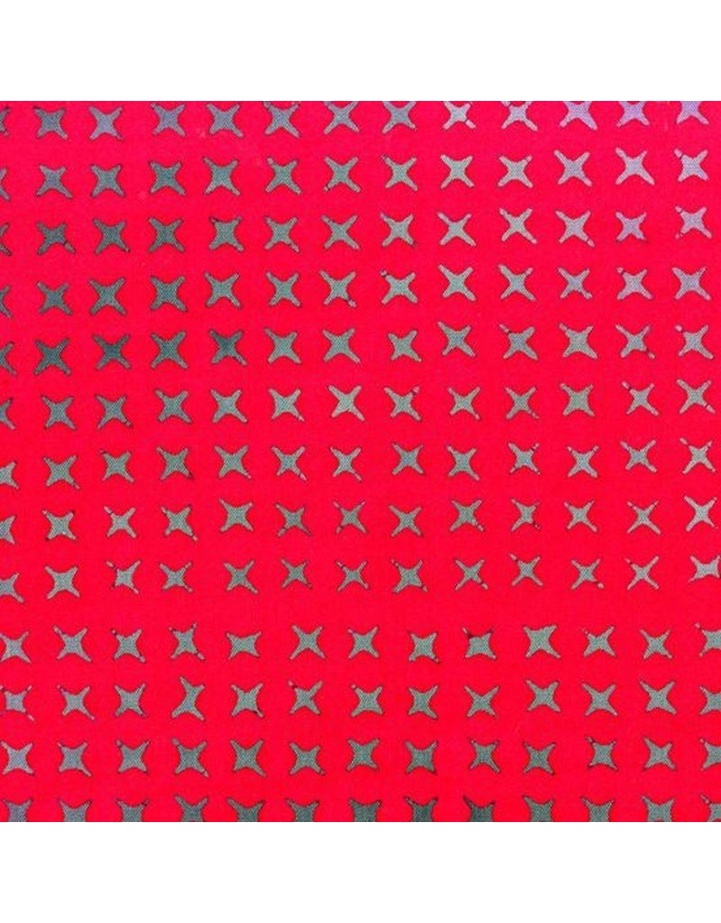 Alison Glass Stitched Handcrafted, Cross Stitch in Ruby, Fabric Half-Yards AB-9039-E
