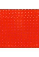 Alison Glass Stitched Handcrafted, Cross Stitch in Pumpkin, Fabric Half-Yards AB-9039-O