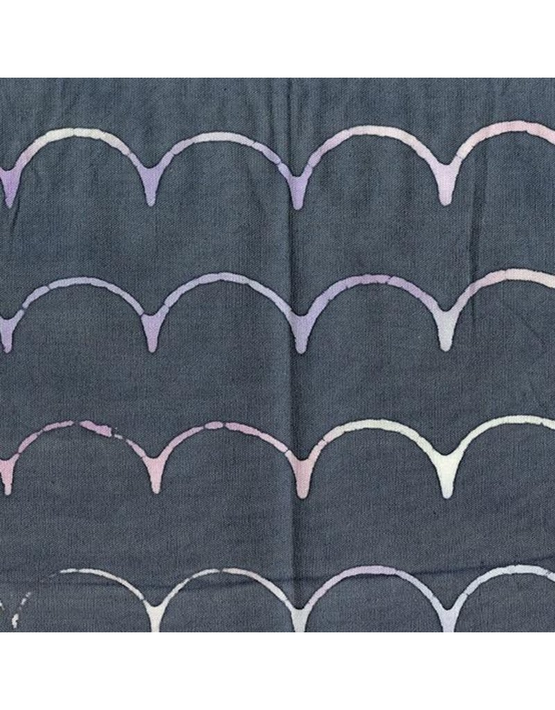 Alison Glass Stitched Handcrafted, Scallop in Pewter, Fabric Half-Yards AB-9042-C