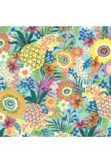 Moda Kiamesha, Pachanga in Aqua, Fabric Half-Yards 11850 11