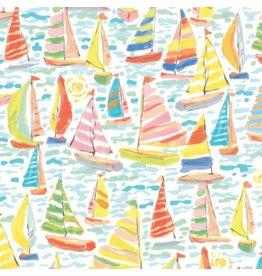 Moda Kiamesha, Sailboats Dockside in Multi, Fabric Half-Yards 11853 13